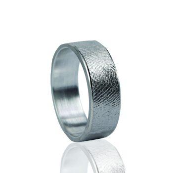 Vingerafdrukring 0101-00 zilver