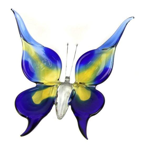 Accessoires Vlinder Large Blauw Geel B01BBY