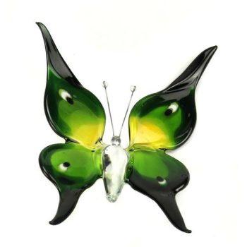 Accessoires Vlinder Big Groen Geel B01BGY