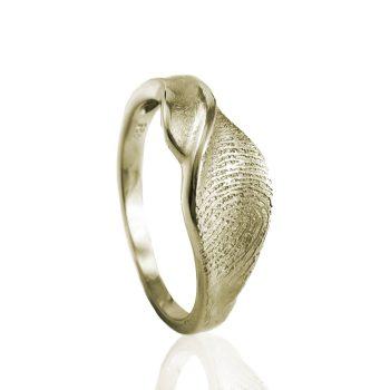 Design Ring Goud met Vingerafdruk 0160-00G