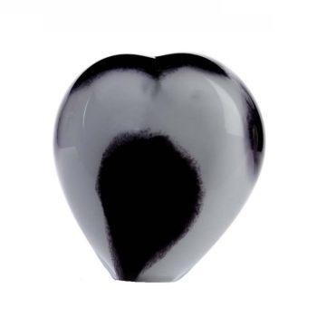 Memorie Line Small Hart Zwart Wit Opaak U35SHOBLW