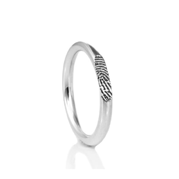 Ring met vingerafdruk sterling zilver 0140-00Z
