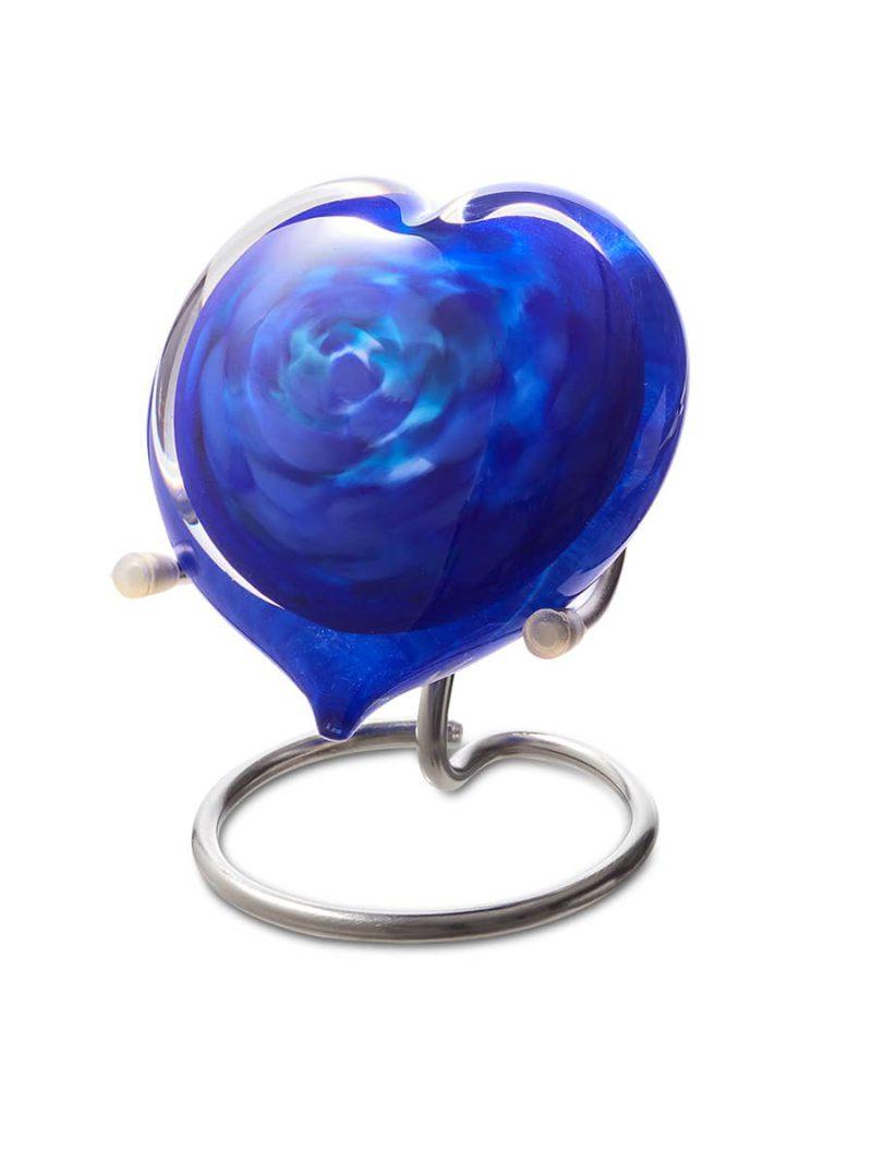 Memorie Line Hart Medium U39MHB Blauw in houder