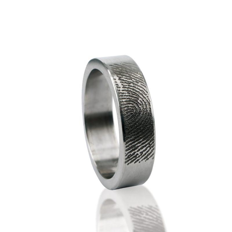 Vingerafdruk Ring RVS 0101-00R