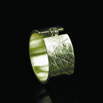 Vingerafdruk Ring met Chaton en Zarkonia 0101-10G