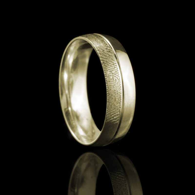 Vingerafdruk Ring met Groef 0169-00G