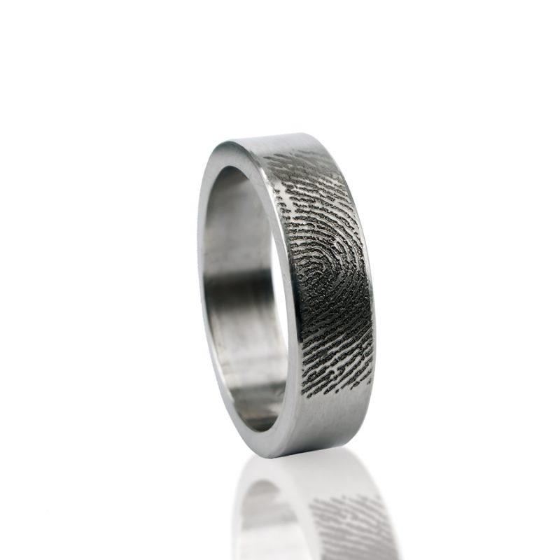 Vingerafdruk Ring van Titanium 0101-00T