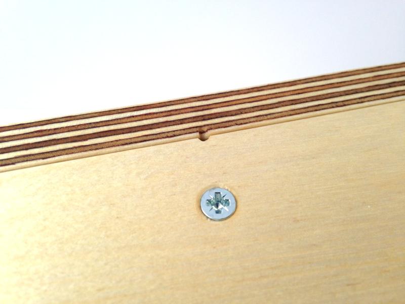 Urn 3.5L rechthoek Berken Multiplex onderkant detail 18-024