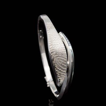 Armband met Afdruk en 7 Stenen Sterling Zilver 0317-07Z