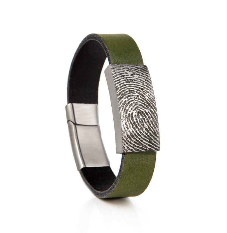 Armband met Schuif en Vingerafdruk RVS 0315-701R