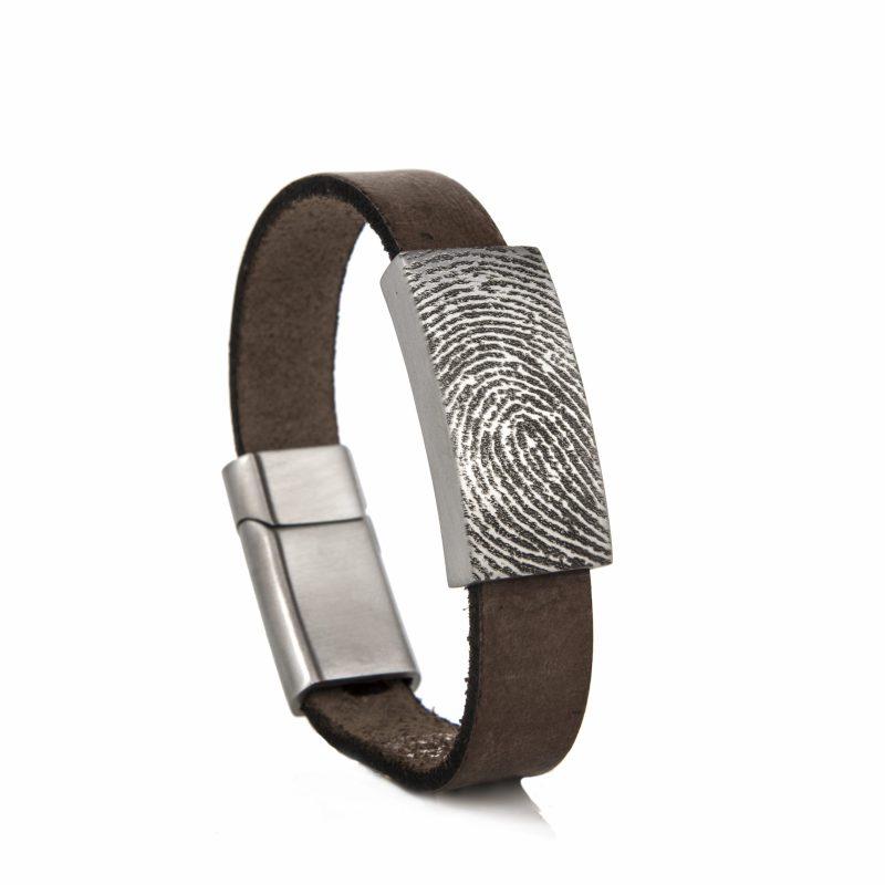 Armband met Schuif en Vingerafdruk Zilver 0315-218Z