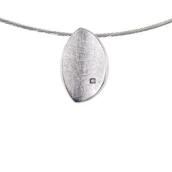 Design hanger met Pave Gezette Zirkonia Sterling Zilver 0886-01
