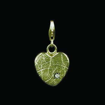 Hartvormige Bead 1,5 mm Goud met Zarkonia G0503-01G2