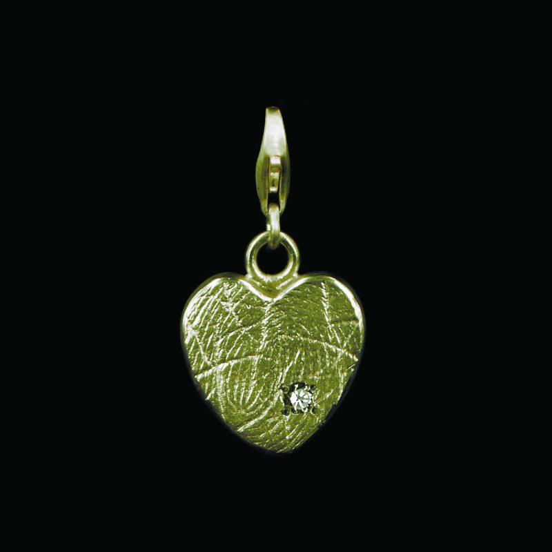 Hartvormige Bead 2 mm Goud met Zarkonia G0503-01G2