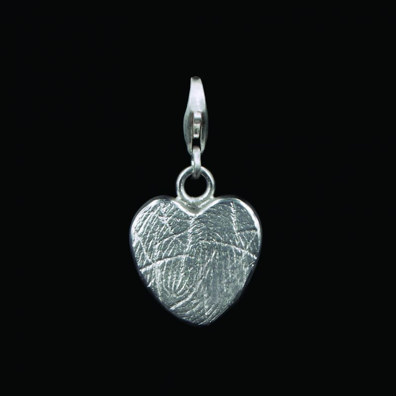 Hartvormige Vingerafdruk Bead Sterling Zilver 0503-00Z