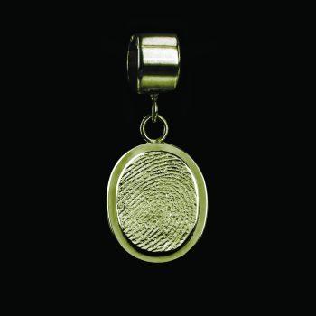 Ovale Vingerafdruk Bead Goud 0504-00G