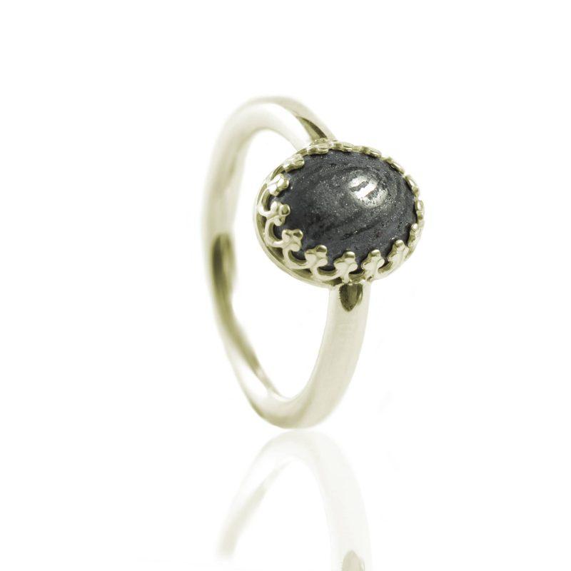 Ring met Afdruk in Ovale Hematiet Goud 0186-00G