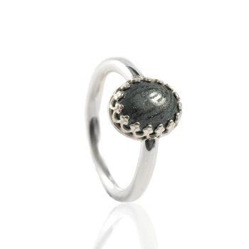 Ring met Afdruk in Ovale Hematiet Sterling Zilver 0186-00Z