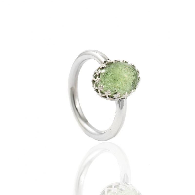 Ring met ovale glazen as cabochon 11.111-000