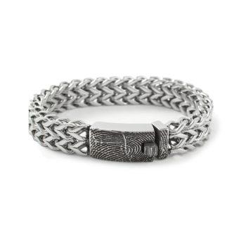 Vingerafdruk Armband RVS 0331-00R