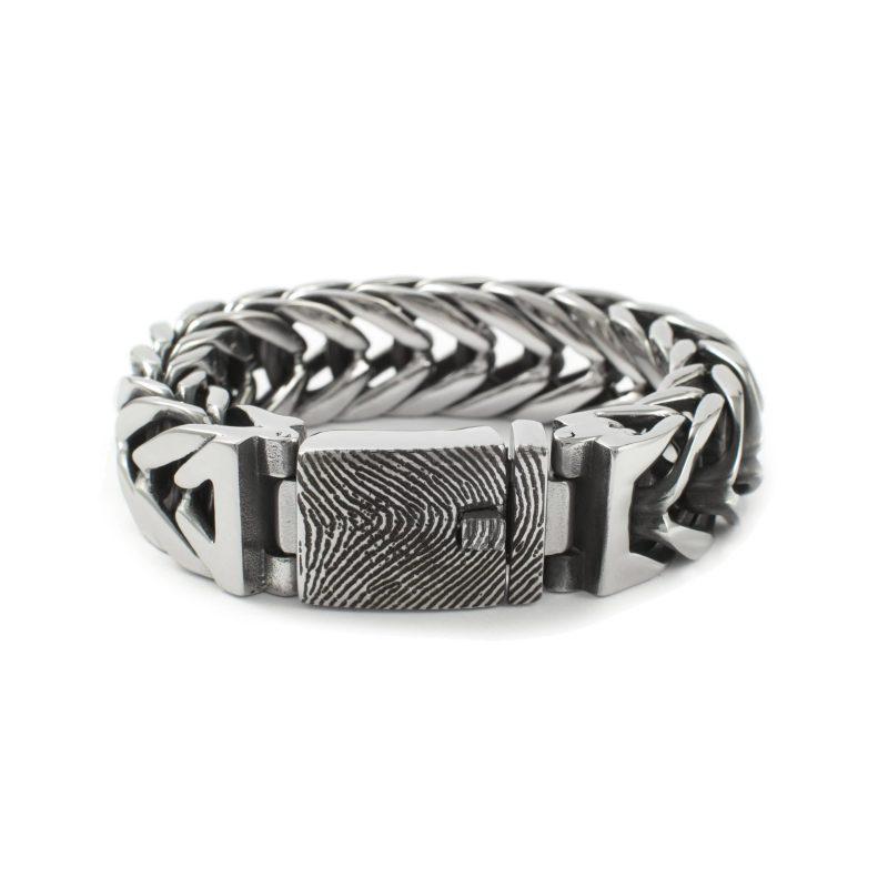 Vingerafdruk Armband RVS 0332-00R