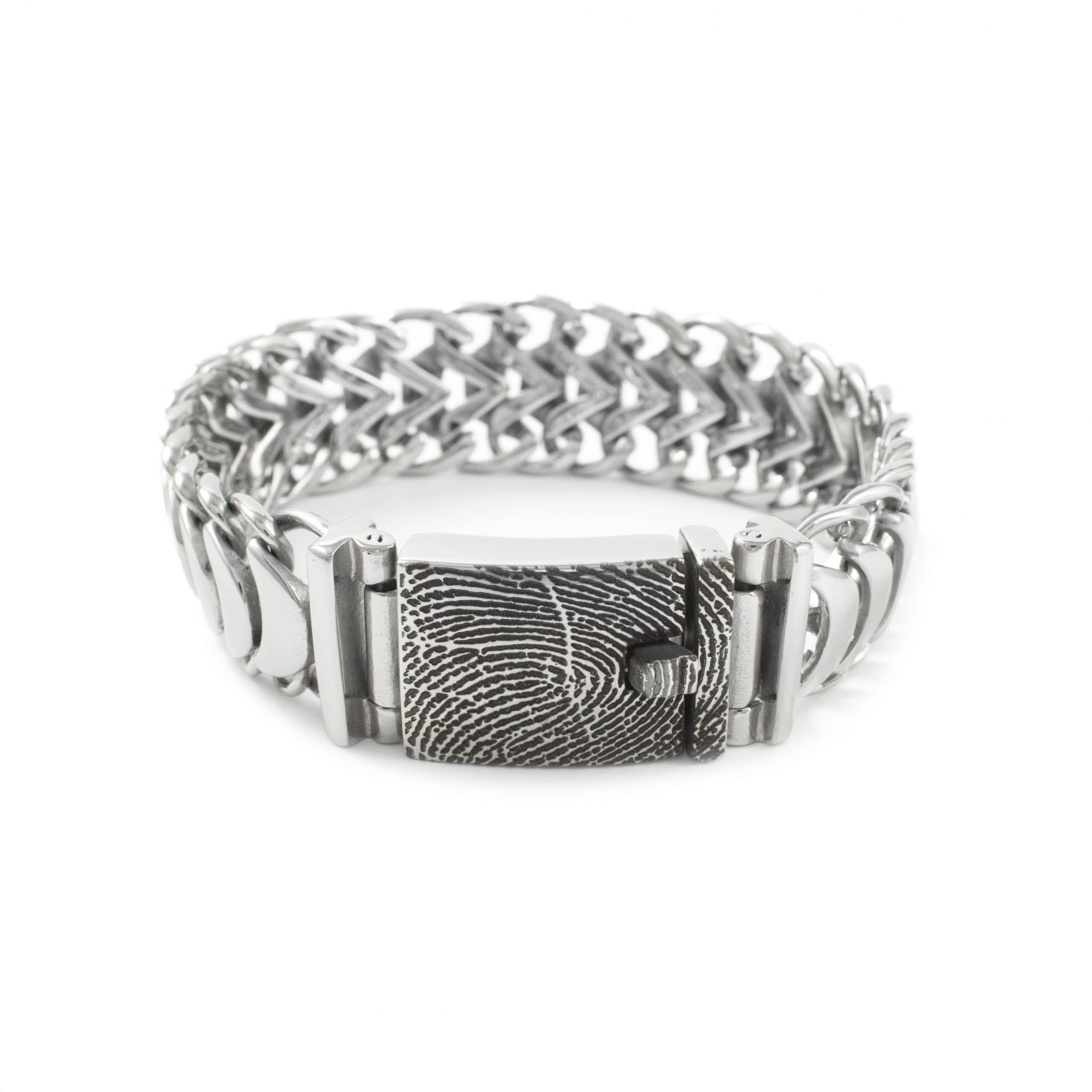 Zilveren armband met afdruk