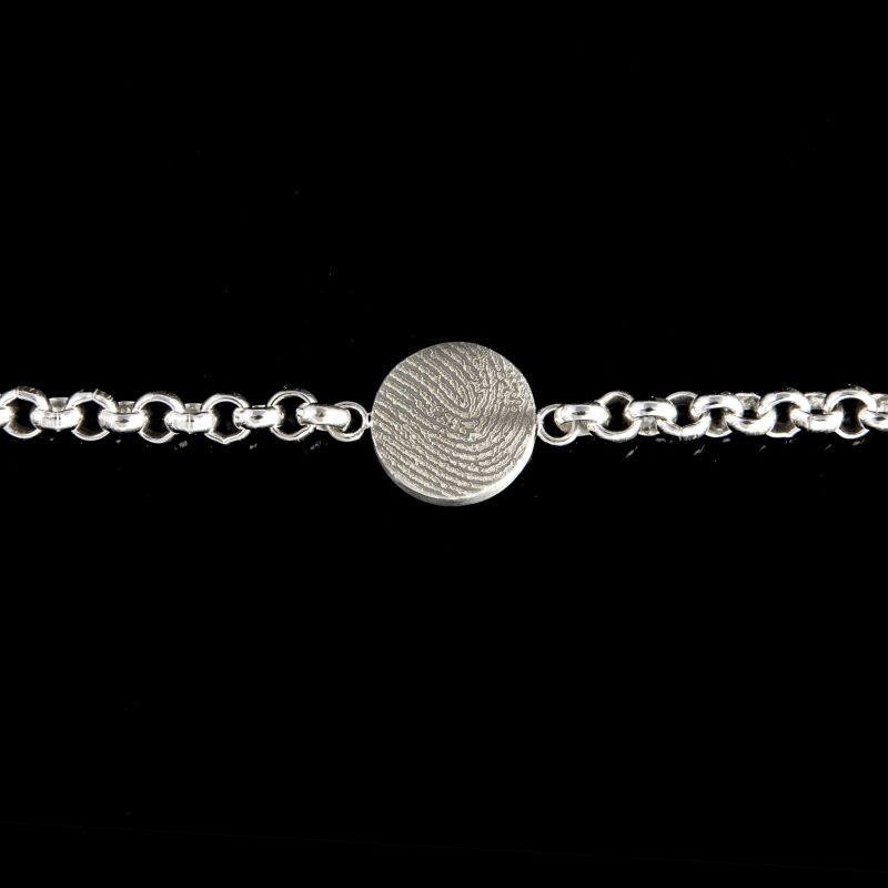 Vingerafdruk Armband Rond Sterling Zilver 0324-00Z