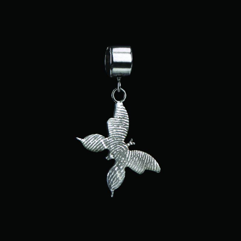 Vlinder Vingerafdruk Hanger Sterling Zilver 0509-00Z