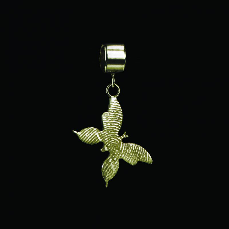 Vlinder Vingerafdruk Hanger Goud 0509-00G