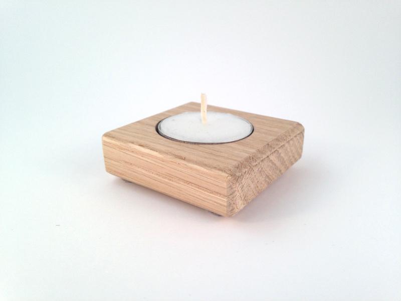 Waxinelichthouder eikenhout Treasurebox 17-018