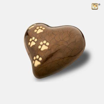 Heart Pet Urn Pearl Bronze & Brushed Gold P6391M