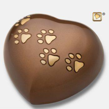 Large Heart Pet Urn Bronze & Bru Gold P630L