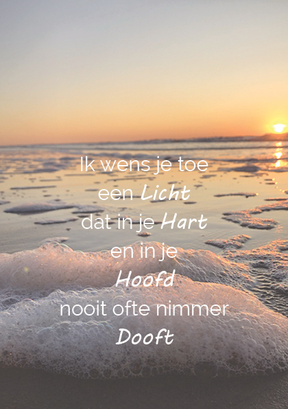 Troostgeschenk gedicht 1 ondergaande zon