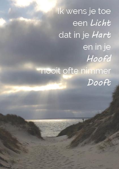 Troostgeschenk gedicht 1 duinen achtergrond