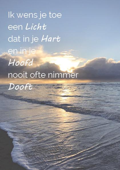 Troostgeschenk gedicht 1 zee achtergrond