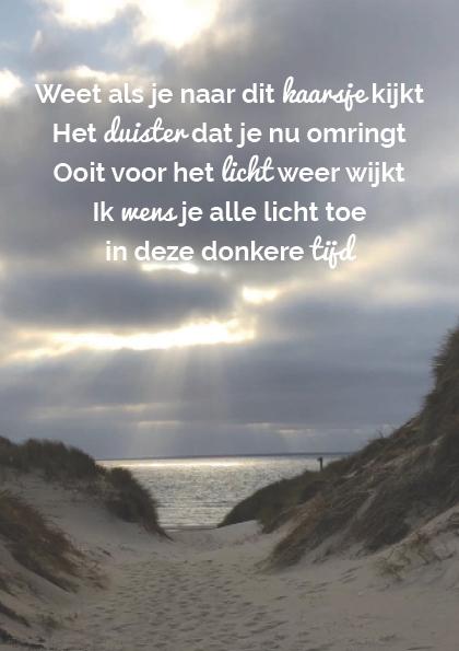 Troostgeschenk gedicht 2 duinen achtergrond