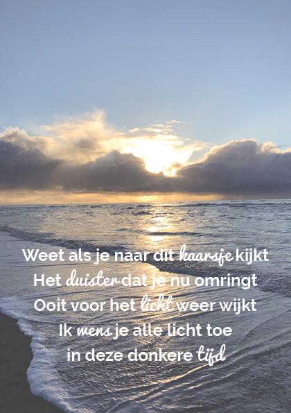 Troostgeschenk gedicht 2 zee achtergrond