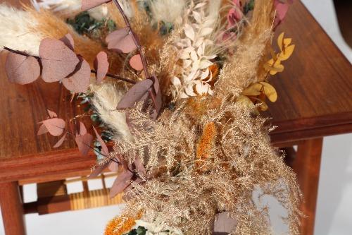 Rouwbloemen kiststuk droogbloemen kleurrijke tinten KSK01-00