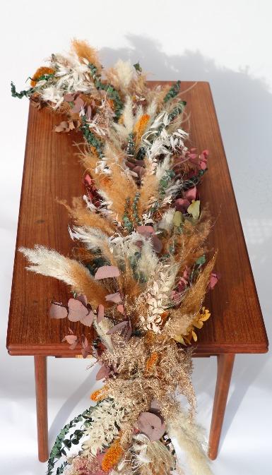 Rouwbloemen kiststuk droogbloemen kleurrijke tinten overzicht KSK01-00