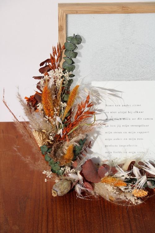 Fotolijst droogbloemen detailfoto FLK01-00