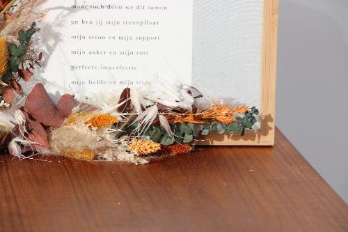 Fotolijst droogbloemen ingezoomd detail FLK01-00