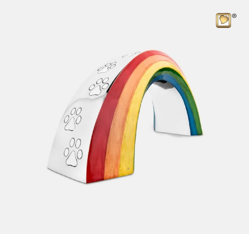 Rainbow Pet Urn Polished Silver Small P660S