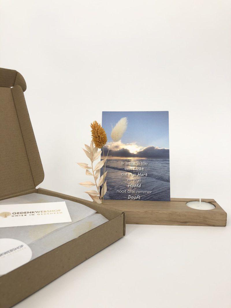 Troostbox – Gedenkaltaar met droogbloemen