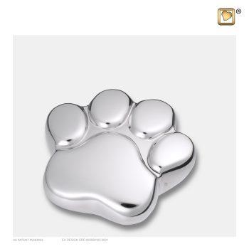LovePaw Pet Keepsake Urn Polished Silver P670K