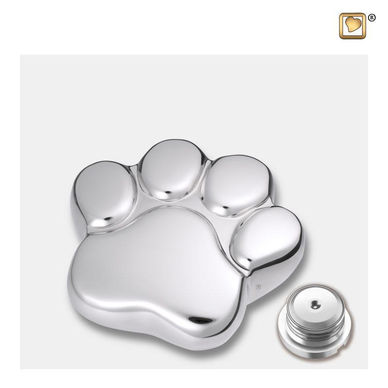 LovePaw Pet Keepsake Urn Polished Silver P670K_c