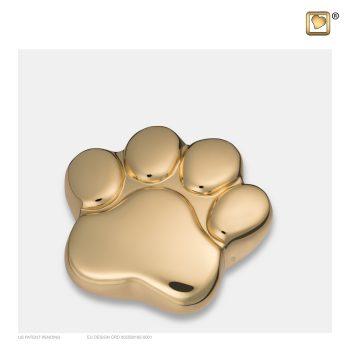 LovePaw Pet Keepsake Urn Polished Gold P671K