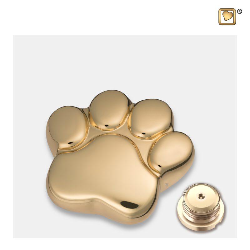 LovePaw Pet Keepsake Urn Polished Gold P671K_c