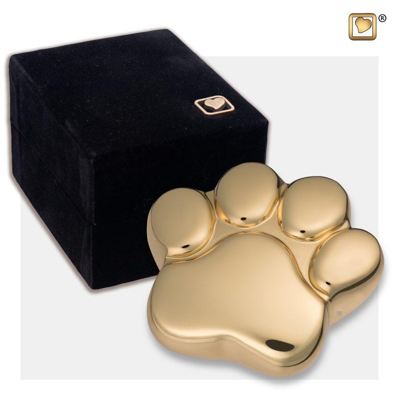 LovePaw Pet Keepsake Urn Polished Gold P671K_v