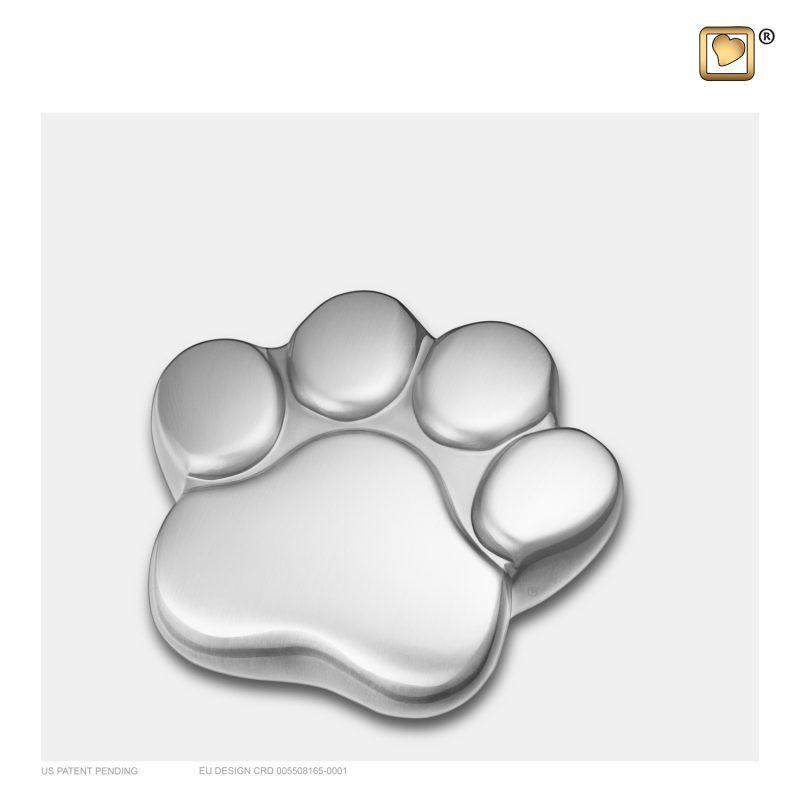 LovePaw Pet Keepsake Urn Bru Pewter P672K