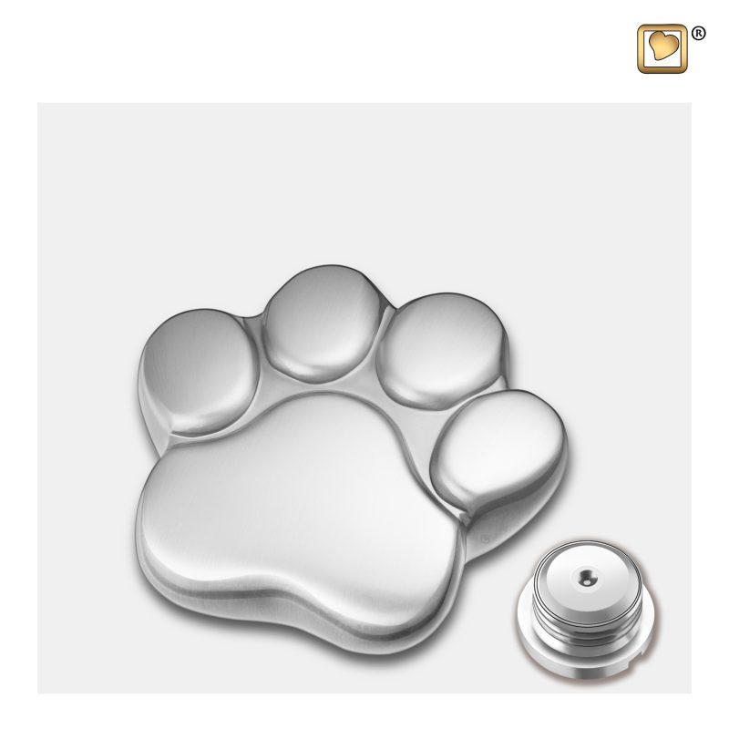 LovePaw Pet Keepsake Urn Bru Pewter P672K_c